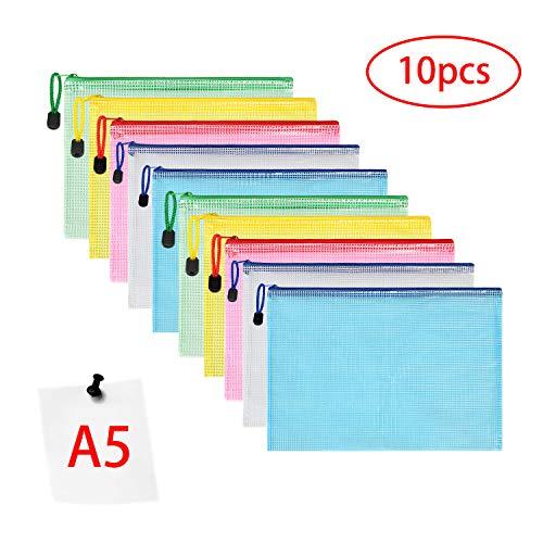 Vicloon Borse di File, A5 Sacchetto di Zip Impermeabile Mesh Sacchetto del Documento per Uffici...