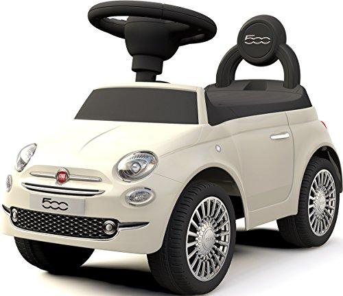 乗用玩具 フィアット500 FIAT500 ライセンス品 足けり玩具 足けり乗用玩具 乗り物おもちゃ [620] (ホワイト)