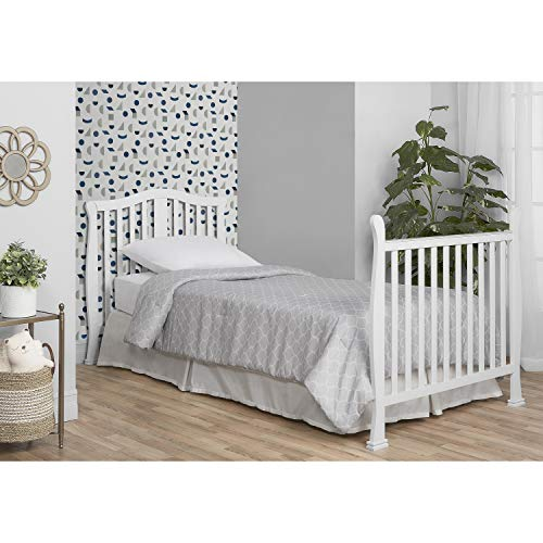 Product Image 5: Dream On Me Addison 4-in-1 Convertible Mini Crib in White, Greenguard Gold Certified