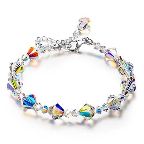 LADY COLOUR women Crystal Bracelet for Her Aurora Crystal...