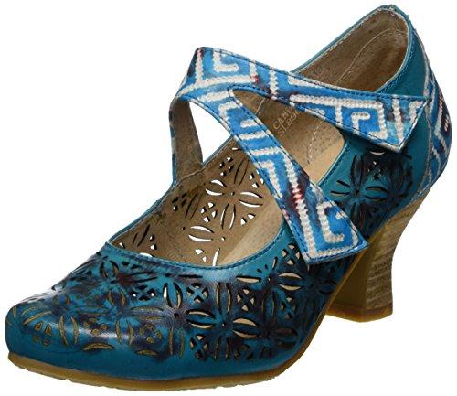 Laura Vita Candice 019, Merceditas Mujer, Turquoise, 38 EU