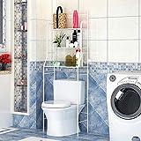 YIFAA Etagère de Salle de Bain MARSA Meuble de Rangement au-Dessus des Toilettes WC...