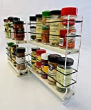 Vertical Spice - 22x2x11 DC - Spice Rack - Narrow Space w/2 Drawers Each with 2 Shelves - 20 Spice Capacity - Easy to Install