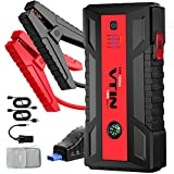 VTIN 1200A Car Jump Starter, Upgraded 12V Power Pack Jump Starter (Up to 8.0L Gas 6.0L Diesel Engines) Portable Battery Booster Power Bank with QC 3.0 Outputs Type-C Port & Safety Jumper Cable