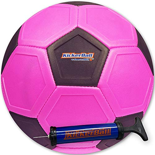 Kickerball カーブとスワーブボール 空気入れ付 Punky Pink