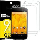 NEW'C Lot de 3, Verre Trempé Compatible avec LG Google Nexus 4, Film Protection...