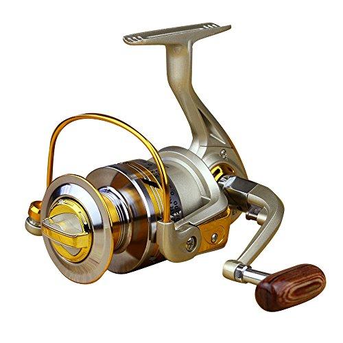 Mulinello per la pesca alla carpa e a spinning, 12 BB 5.2: 1/5.5:1, Maniglia pieghevole pu essere sinistra/destra scambiato,in metallo, serie 500,1000, 2000, 3000, 4000, 5000, 6000,700