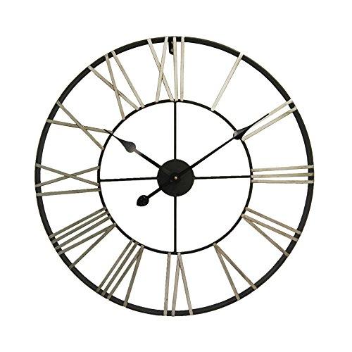 Rebecca Mobili Orologio decorativo, orologi arredo in metallo, con numeri romani, rotondo - Misure:...