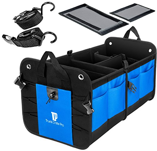 TRUNKCRATEPRO Collapsible Portable Multi Compartments Heavy Duty...