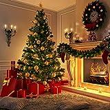 ZRXRY Árbol de Navidad Artificial con bisagras de Abeto Premium sin iluminación de 6 pies, árbol de Navidad Festivo con Base de Metal para decoración de Oficina en casa