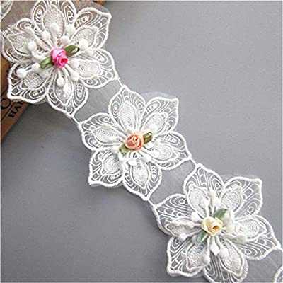 """Color: White; Material: Polyester, Fabric; Per One Size: 6.7*8 cm/ 2.64""""*3.12 inches Package included: 15pcs Flowers Lace(Only 15 flowers, NOT 15 yards or 15 meter) A variety of individual floral pattern design, ideal for clothing, apparel, dress, cu..."""