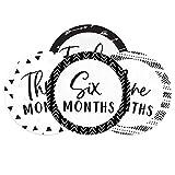 Baby Milestone Signs/Black and White Monthly Milestones/Geometric Infant Photo Prop