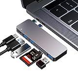 Flyland HUB USB C, Adaptateur de concentrateur de Type C, 3 Ports USB 3.0, Lecteur de Carte TF/SD,...