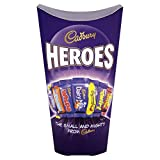 Cadbury Heroes 333g Assortment of chocolate and toffees Includes miniature Eclairs, Fudge, Wispa, Dairy Milk, Caramel, Twirl and Creme Egg twisted