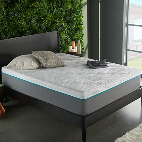 Early Bird Performance 12-inch Hybrid Memory Foam and Spring Mattress, Copper Infused Anti-Microbial Memory Foam, Bed in Box, Handcrafted in The USA, Medium Plush, Queen