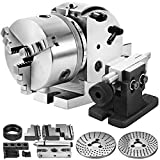 Mophorn BS-0 Dividing Head 5 Inch, Precision Dividing Head Set with 5' 3-jaw Chuck & Tailstock Dividing Plates for Milling Machine