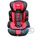 Mcc 3in1 Convertible Baby Child Car Safety Booster Seat Group 1/2/3 9-36 kg [Pink* Grey* Orange* RED* Blue* Spotted* Leopard*] (Red) (Baby Product)