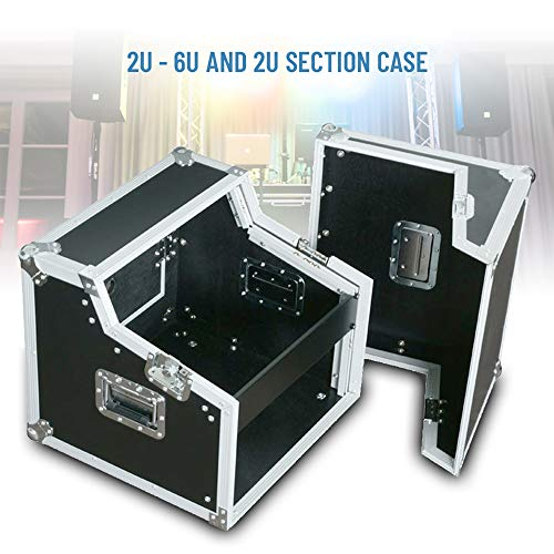 "6U Rack Case 19"" Mixer Sloped Top 2U CD Player Amplifier DJ Disco Flightcase"