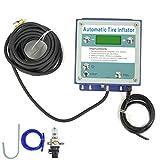 Terisass Tyre Inflator 0.3-7 Bar Car Vehicle Wall Mounted Tyre Inflator Automatic Tire Inflator with LED Display Accessory Universal