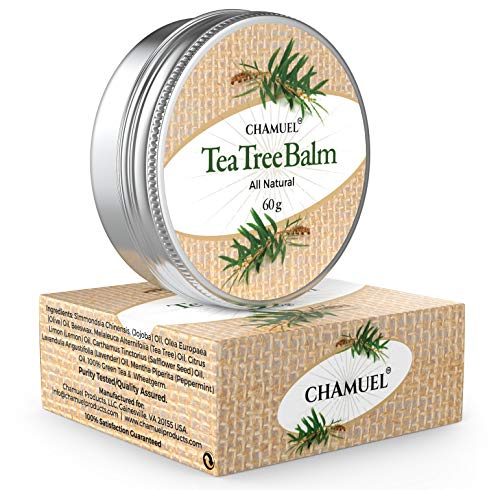 TEA TREE OIL BALM -100% All Natural | Great Cream for Soothing Skin Irritations like Eczema, Psoriasis, Rashes, Jock Itch, Folliculitis, Acne, Itches, Dry Chapped Skin, Heels, Cuticles, Hemorrhoids, Saddle Sores and more!