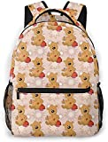 Tribal geométrico colorido gatos africanos básico viaje portátil mochila lindo escuela bolso-oso de peluche con bolsa de Navidad