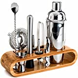 Mixology Bartender Kit: 10-Piece Bar Tool Set with Stylish Bamboo...