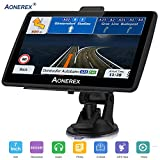 Navigation System for Cars 7 Inch with High Resolution Touch Screen Real Voice Direction Vehicle GPS Navigator Lifetime Map Updates