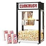 Cornrush Popcorn Popper Machine Tabletop Vintage Professional Popcorn Maker 8 OZ Theater Style with Nonstick Kettle and Serving Scoop for Home Use, Party, Movie Nights and Birthday Gift