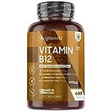 Vitamina B12 Vegana 1000mcg 400 Comprimidos, Vegano - Suministro para más de 1 Año, Reduce...