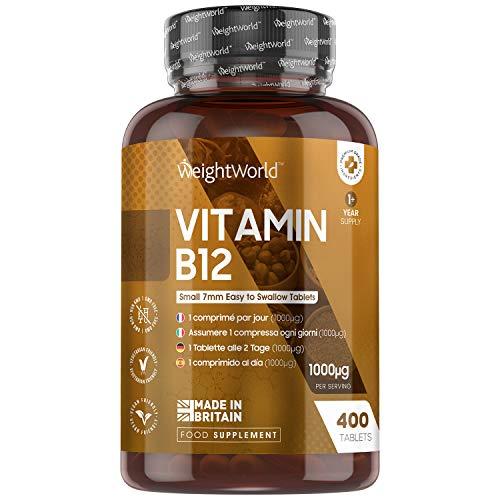 Vitamina B12 Vegana 1000mcg 400 Comprimidos, Vegano - Suministro para...