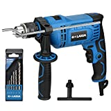 Impact Drill, G LAXIA 7.5Amp 1/2-inch Keyed 0-2800RPM Variable Speed Corded Drill with 5 Drill Bit Set, Hammer and Drill Functions, 360Rotating Handle, Chuck Key, Depth Gauge for Accurate Drill