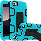iPod Touch 7th Gen Case,iPod Touch 6th Gen Case,Kickstand Case for iPod Touch,Anti-Scratch Anti-Fingerprint Heavy Duty Protection Shockproof Rugged Cover Apple iPod Touch 2019,Sky Blue