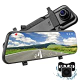 2.5K Mirror Dash Cam for Cars with 10' IPS Full Touch Screen, Night Vision , Waterproof Rear View Camera, Sony IMX335 Sensor Monitor for Car Loop Recording Streaming 170° Wide Angle Parking Assistance