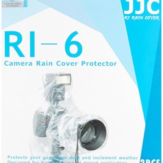 JJC Rain Protection Cover for Canon, Nikon, Olympus, Pentax, Samsung, Sigma, Sony D-SLR Cameras with Mounted Flash (Pack of 2)
