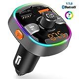Transmetteur FM Bluetooth 5.0 Lecteur MP3 Adaptateur Radio sans Fil Kit de...