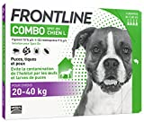 FRONTLINE Combo Chien - Anti-puces et anti-tiques pour chien - 20-40kg - 4...