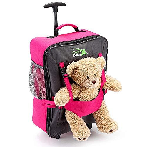 Cabin Max Bear, trolley da viaggio per bambini, con cinghie esterne per bambole/peluche- rosa Dim:...