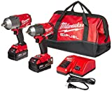 Milwaukee 2 PC M18 FUEL Auto Kit - 1/2' Impact Wrench and 3/8' Impact Wrench