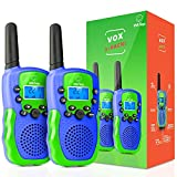 USA Toyz Vox Box Walkie Talkies for Kids - Voice Activated Walkie Talkies for Boys and Girls, with Over 2 Mile Range (Green and Blue)
