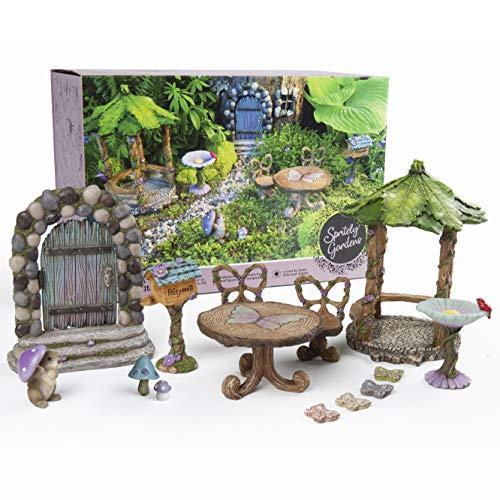 Spritely Gardens Deluxe 14-Piece Fairy Garden Kit with Accessories