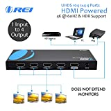 Orei UltraHD 4K @ 60 Hz 1 X 4 HDMI SPLITTER 1 In 4 Out 4 Port 4: 8-Bit - HDMI 2.0, HDCP 2.18 Gbps