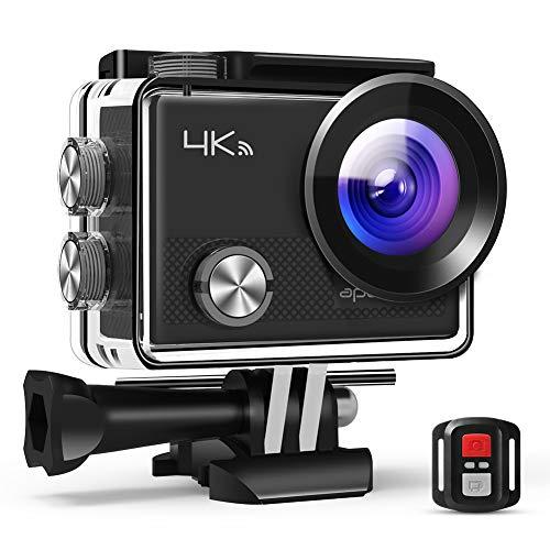 APEMAN Action Cam A77, 4K 20MP Wi-Fi Impermeabile 30M con Telecomando fotocamera subacquea digitale,...
