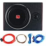 8' 600W Active Under Seat Car Sub Woofer Stereo Power Amplifier Enclosure Speaker
