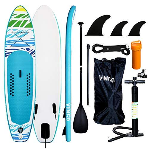 vingo Tabla de SurfTabla Paddle Surf Hinchable, Sup Paddle Remo Ajustable,Tabla Stand Up Paddle Board