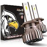 Ampoule H7 LED, 10800LM 6000K Phares pour Voiture et Moto, 2 Pièces