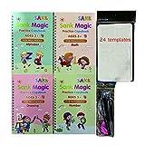 CYKJ Les Autocollants d'écriture Magiques Anglais pour Enfants aident Les Enfants à...