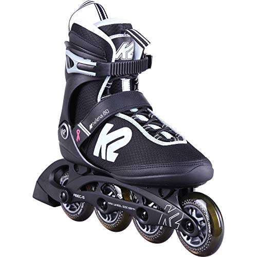 K2 Skates Damen Inline Skate Helena 80 W  — Black - White - Grey — EU: 36.5 (UK: 4 / US: 6.5) — 30D0402