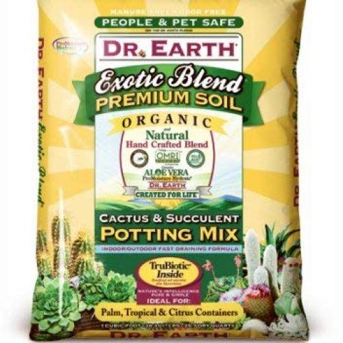 Dr. Earth 810-ORIGIN Exotic Blend Cactus & Succulent Potting Mix, 8 Qt. - Quantity 6
