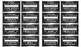 Beistle Speakeasy Mug Shot Photo Fun Signs 16 Piece, 6.5' x 10.5', Black/White
