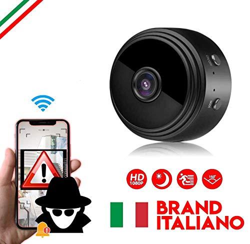 MERIO Telecamera Wi-Fi Interno Microcamera Spia Nascosta Action Cam Telecamera Wi-fi esterno Videocamera Sorveglianza Interno Telecamera Spia Telecamera Wifi Esterno Telecamera Spia Spy Cam